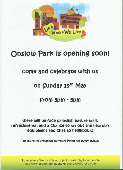 Onslow Park flyer