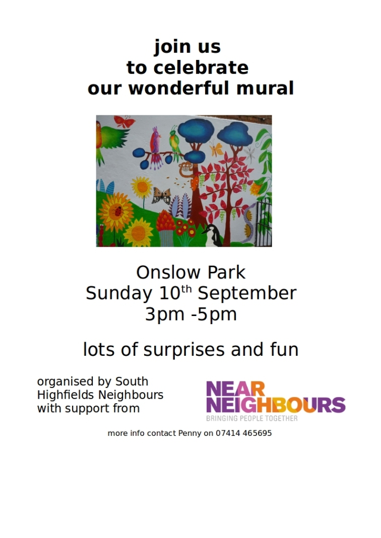 celebration flyer onslow park mural Sept 2017