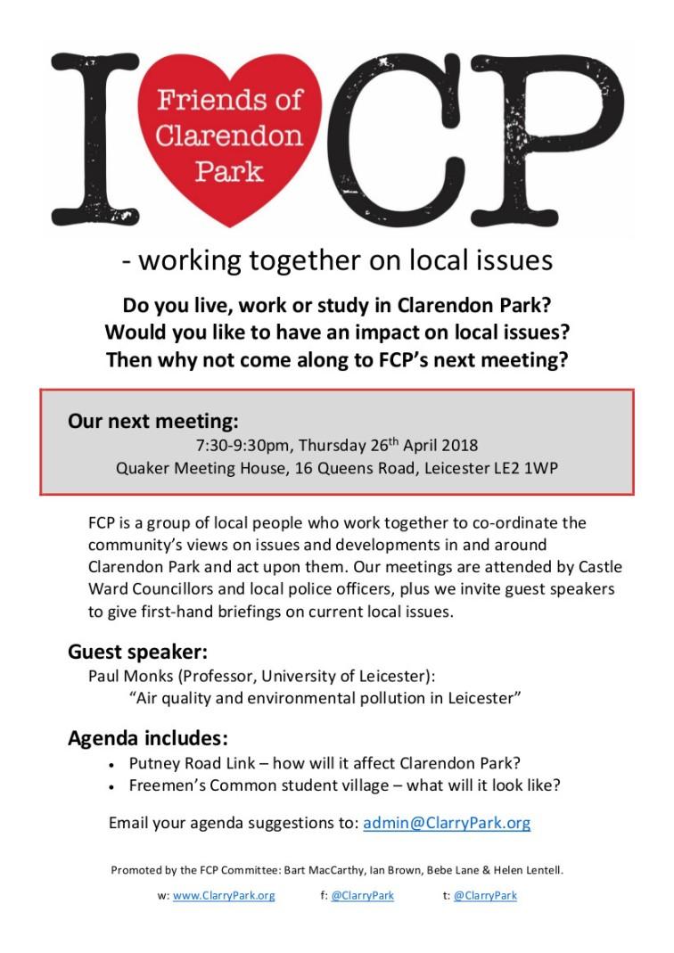 Clarendon Park FCP - AGM - 2018 04 26 - Poster (A4)