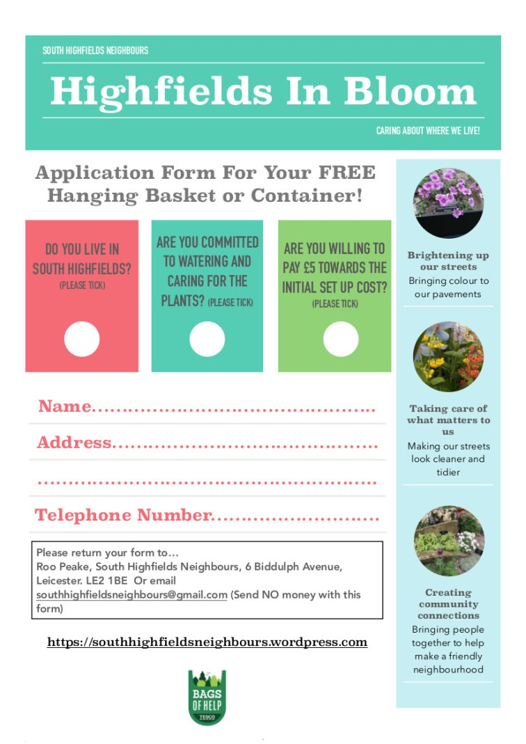 Hanging Basket Booking Form