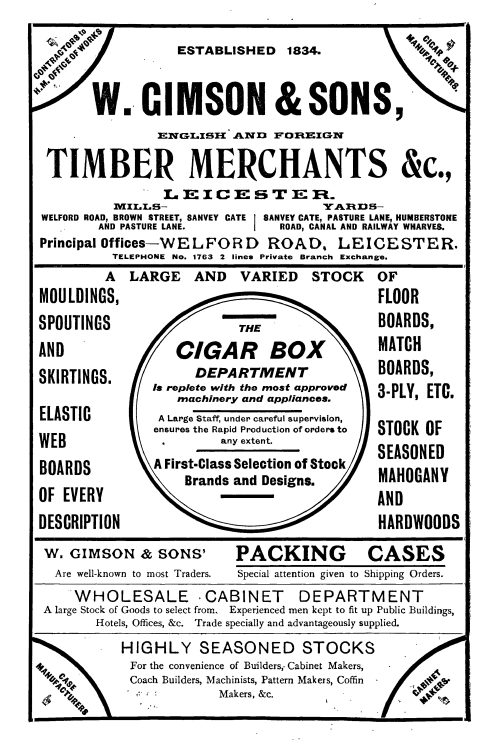 Gimson timber merchants