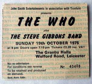 Leicester Trivia, The Who