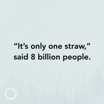 It's only one straw......