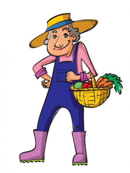 gardener, female with basket